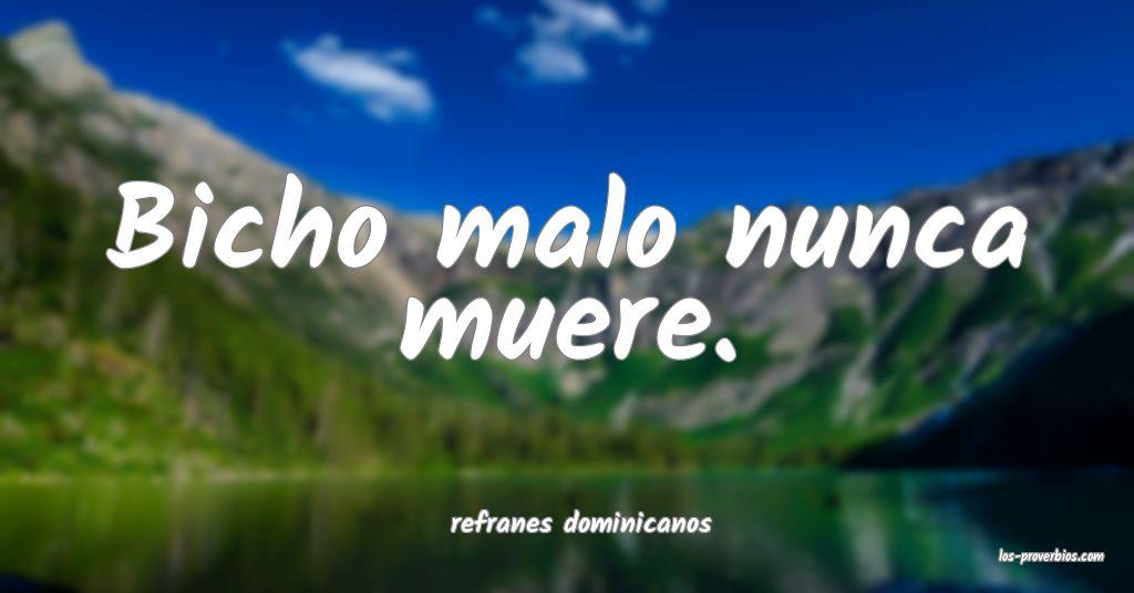 refranes dominicanos