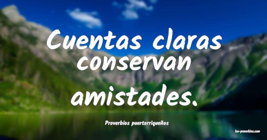 Proverbios puertorriqueños