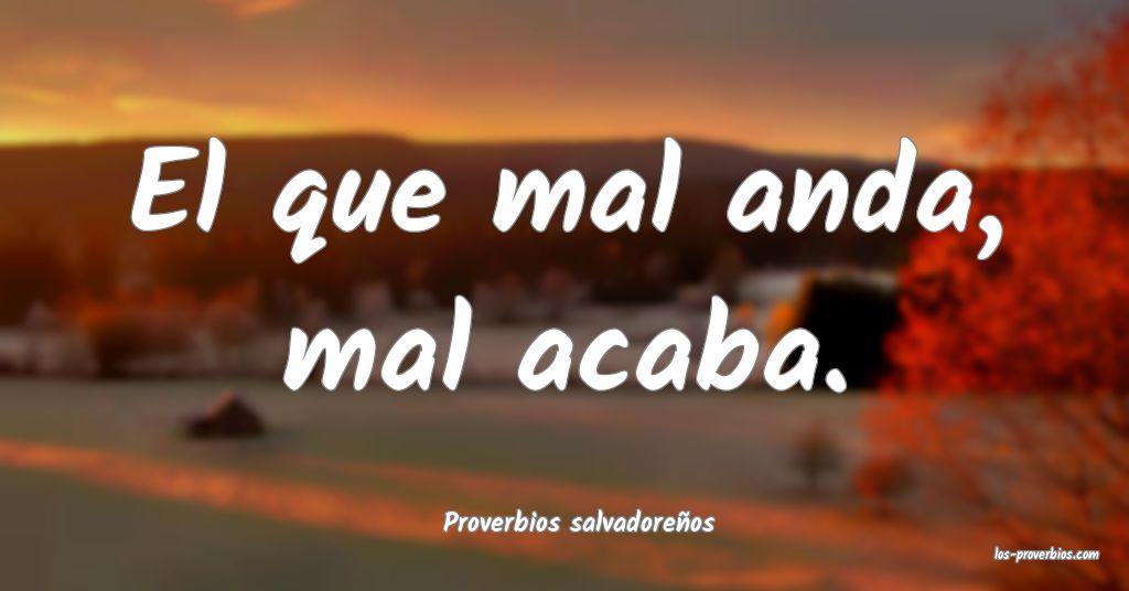 Proverbios salvadoreños