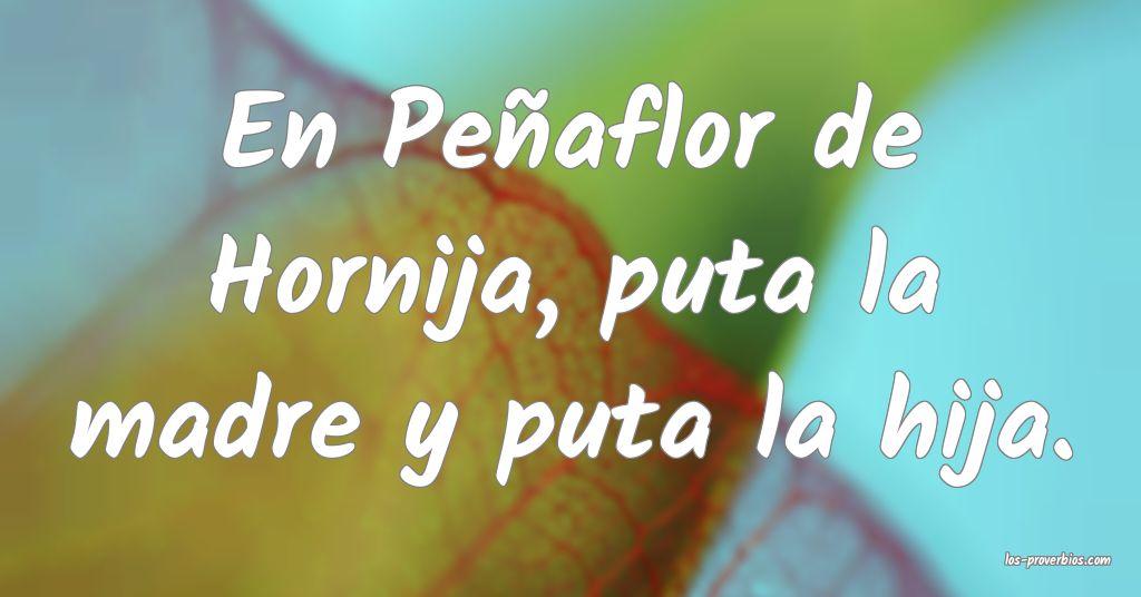 En Peñaflor de Hornija, puta la madre y puta la hija.