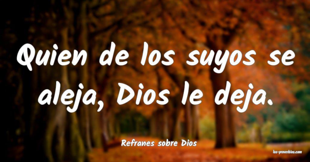 Refranes sobre Dios