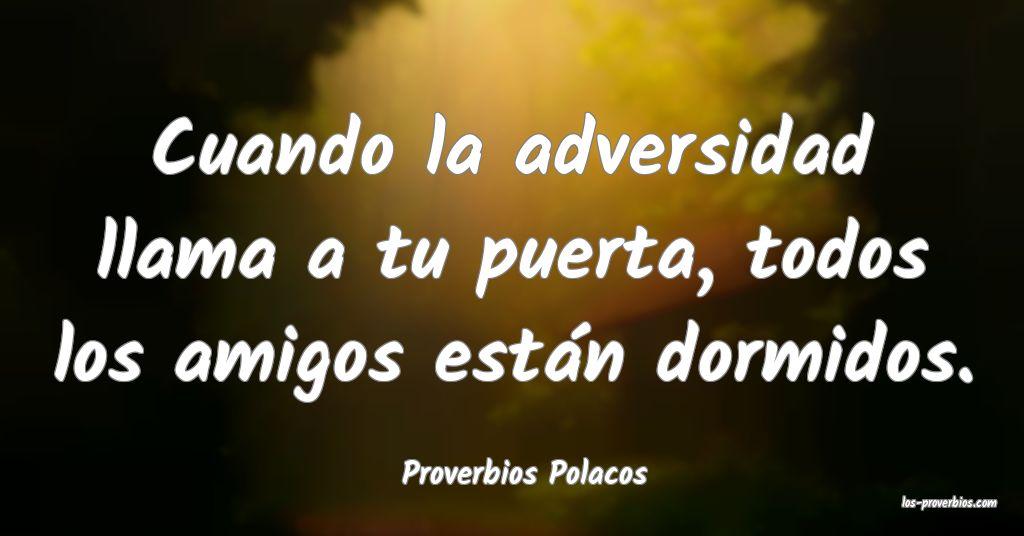 Proverbios Polacos