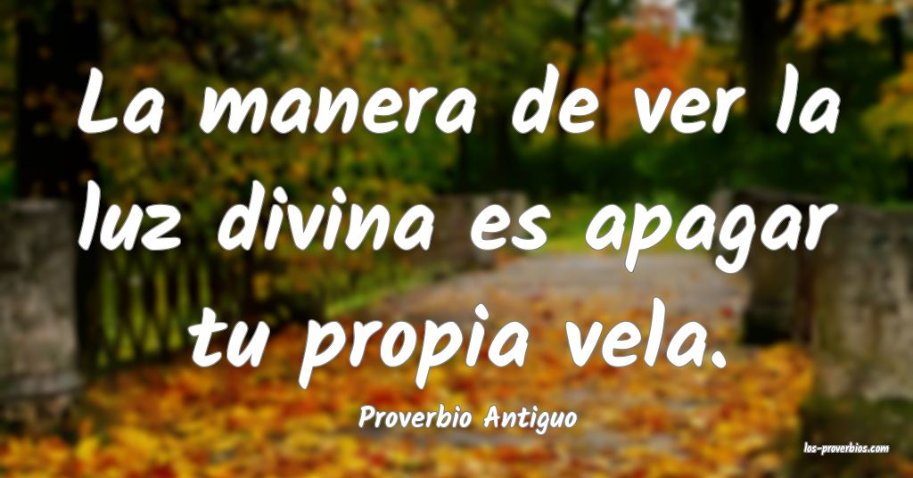 Proverbio Antiguo