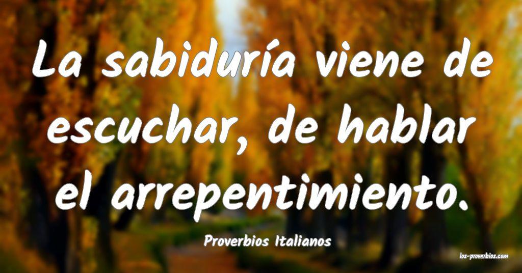 Proverbios Italianos