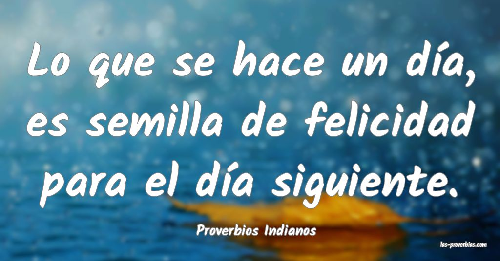 Proverbios Indianos