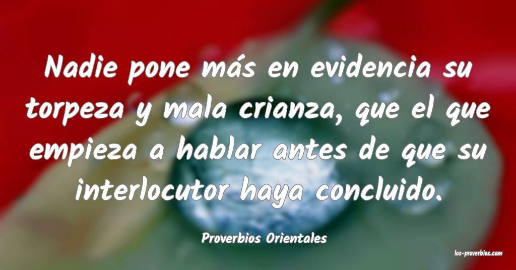 Proverbios Orientales