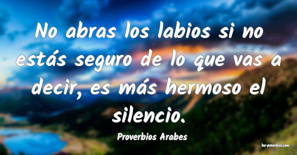 Proverbios Arabes