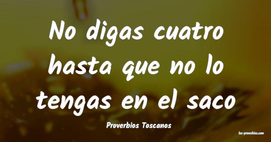 Proverbios Toscanos