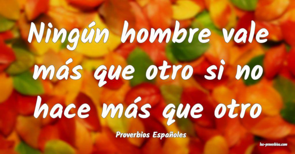 Proverbios Españoles