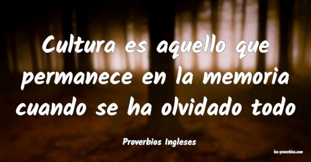 Proverbios Ingleses