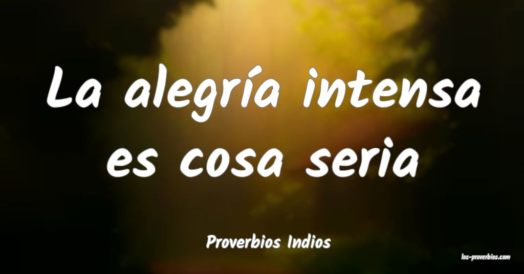 Proverbios Indios