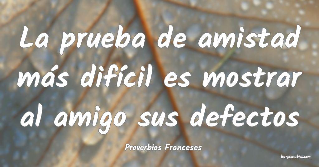 Proverbios Franceses