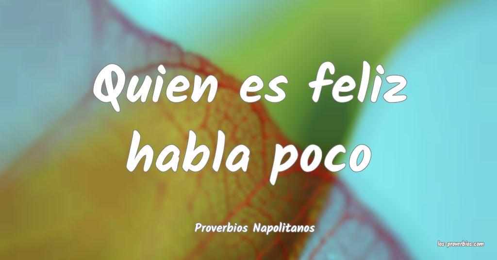 Proverbios Napolitanos