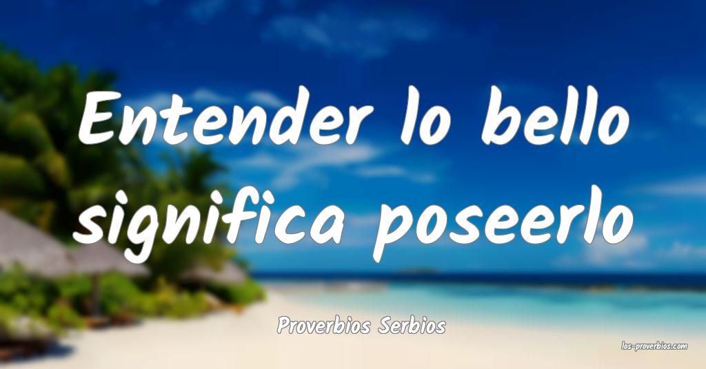 Proverbios Serbios