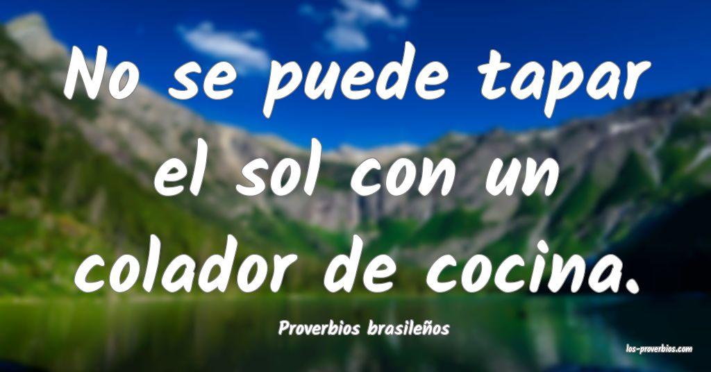 Proverbios brasileños