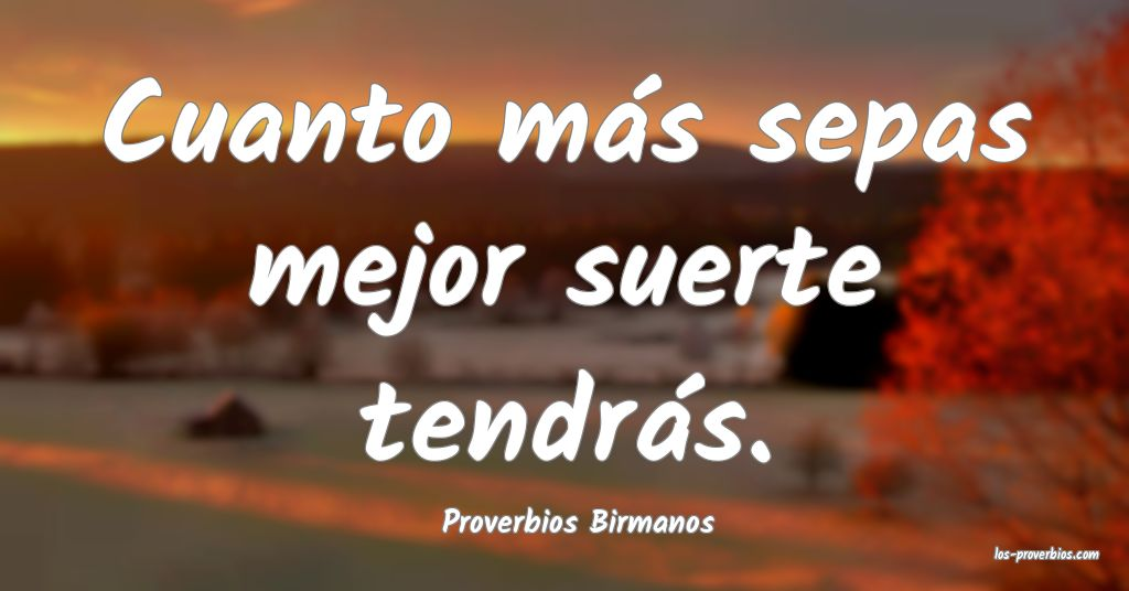Proverbios Birmanos