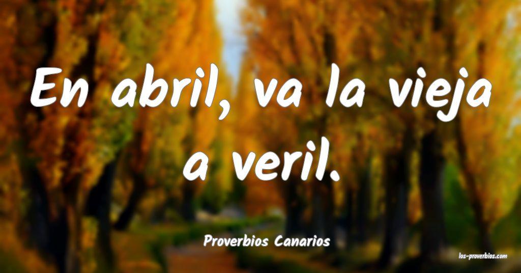 Proverbios Canarios