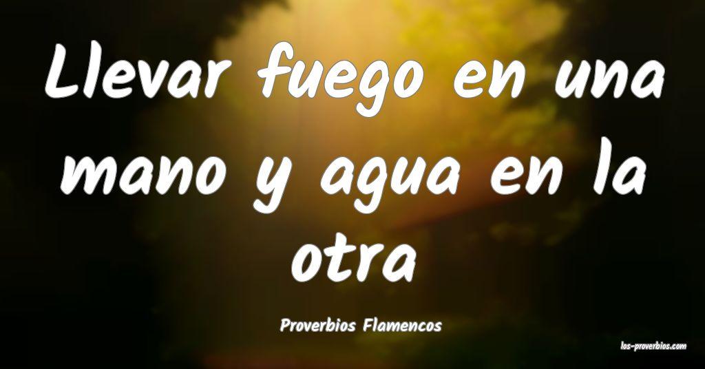 Proverbios Flamencos