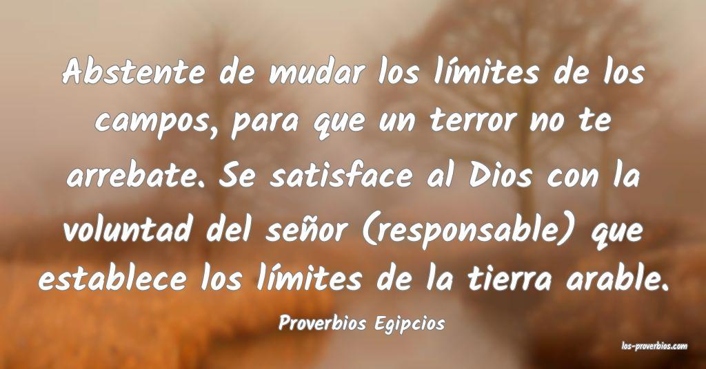 Proverbios Egipcios