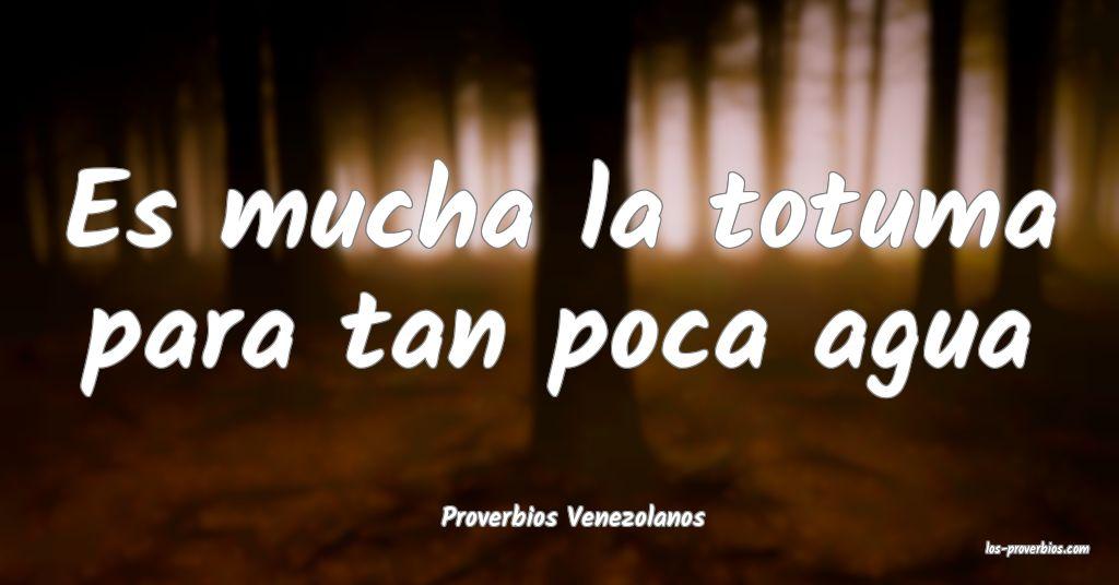 Proverbios Venezolanos