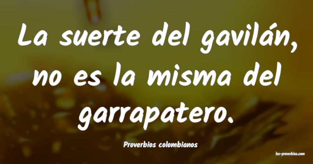 Proverbios colombianos