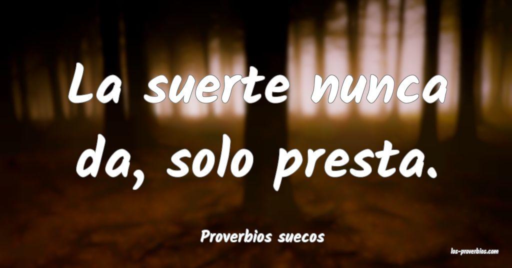 Proverbios suecos