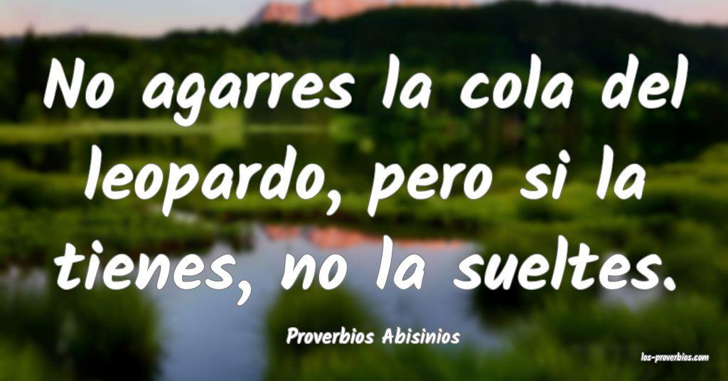 Proverbios Abisinios