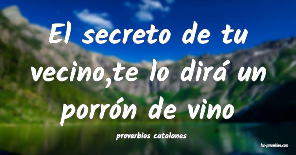 proverbios catalanes