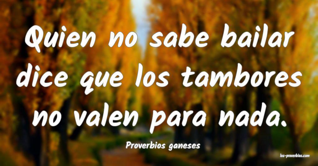 Proverbios ganeses