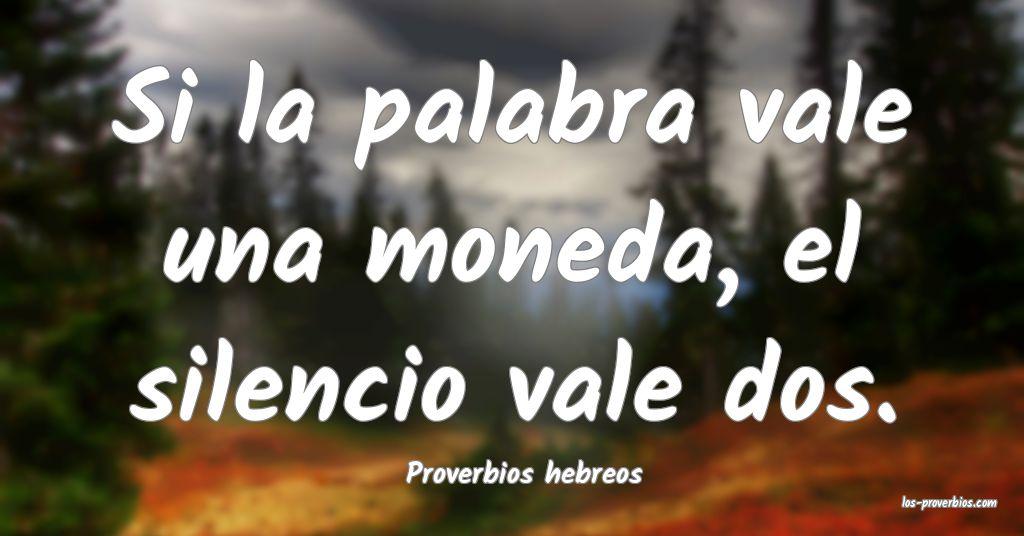 Proverbios hebreos