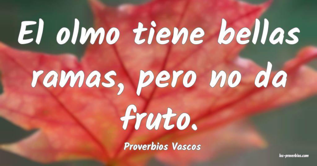 Proverbios Vascos