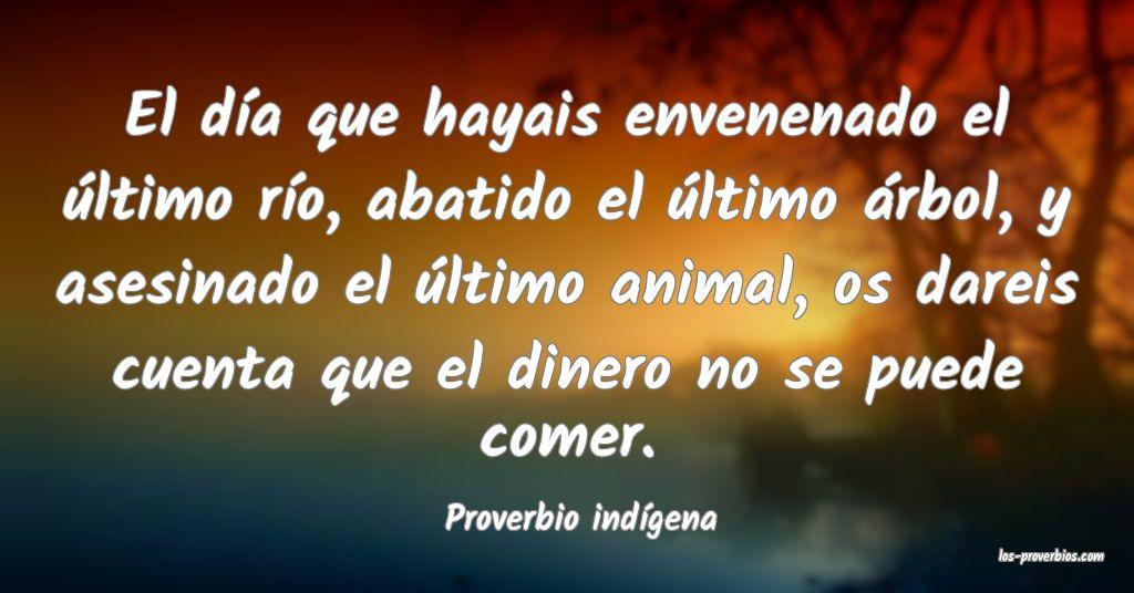 Proverbio indígena