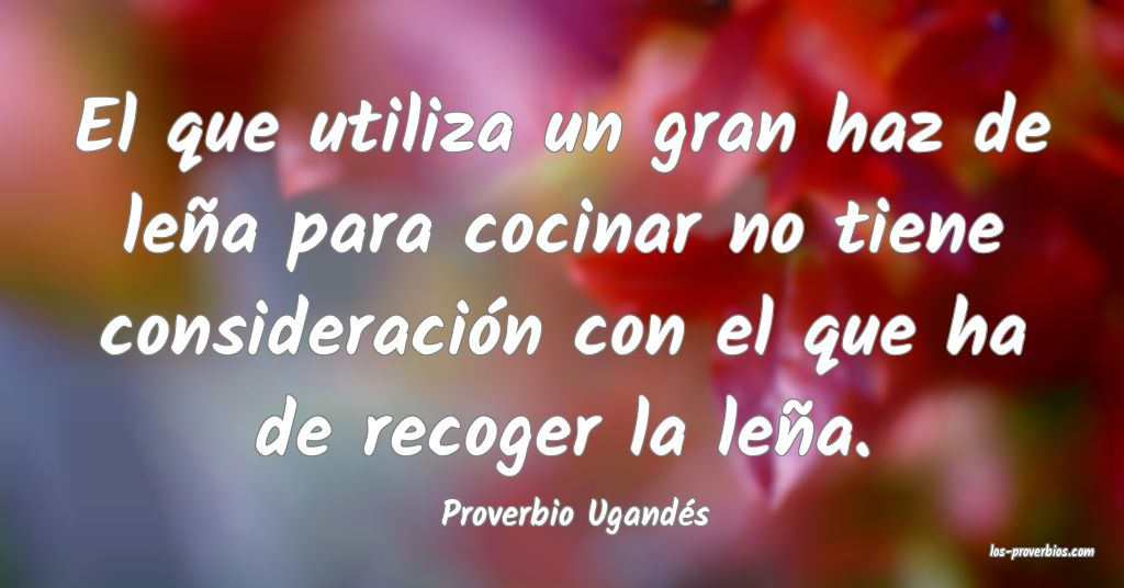 Proverbio Ugandés