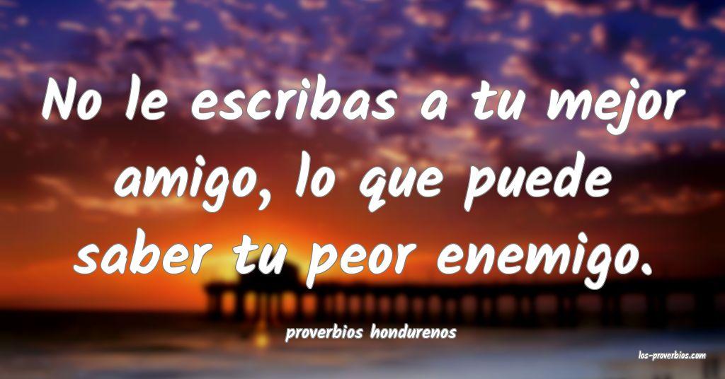 proverbios hondurenos