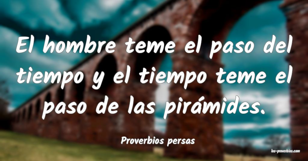 Proverbios persas