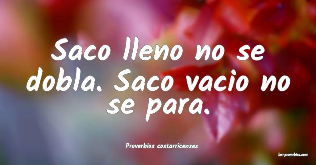 Proverbios costarricenses