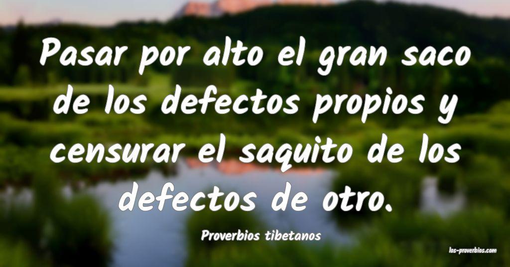Proverbios tibetanos