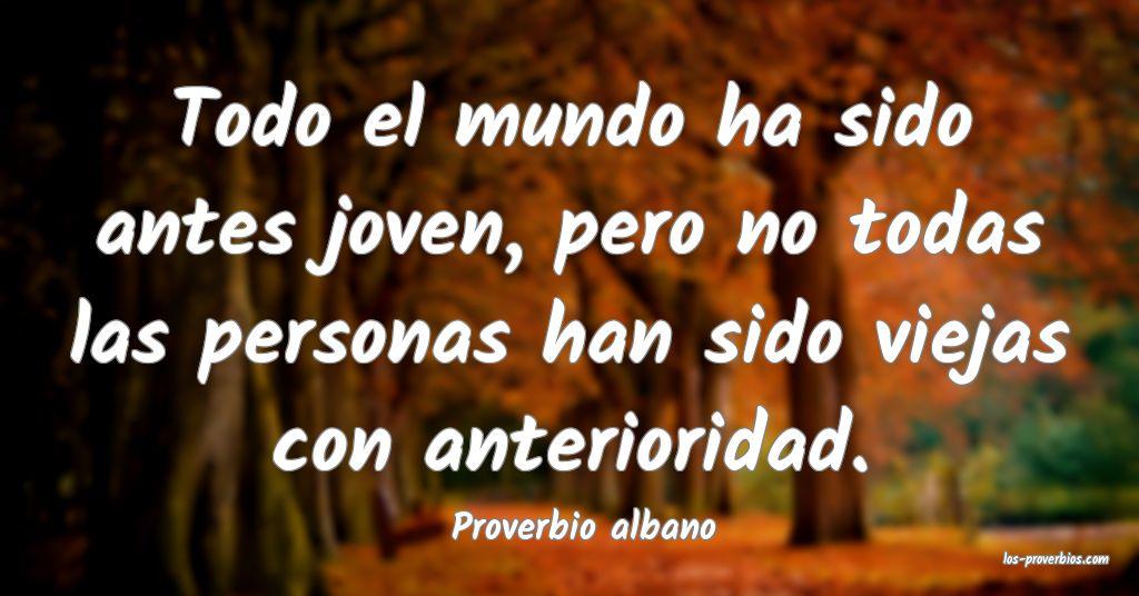 Proverbio albano