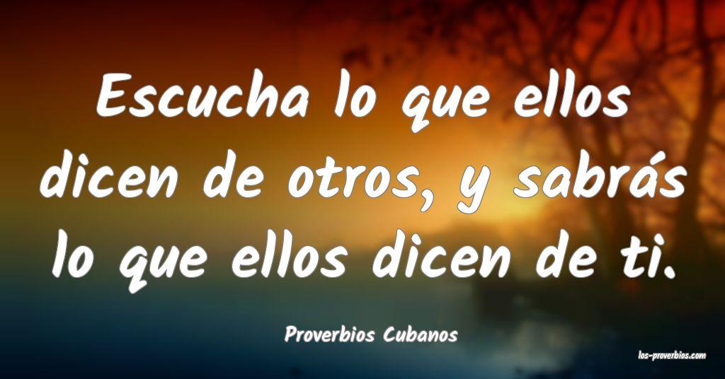 Proverbios Cubanos