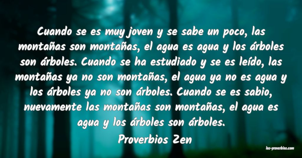 Proverbios Zen