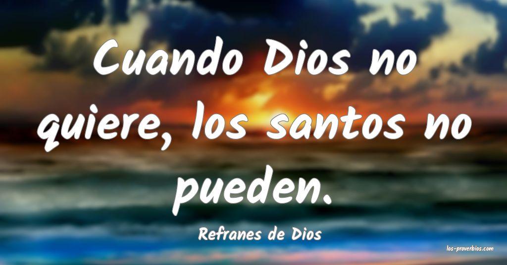 Refranes de Dios