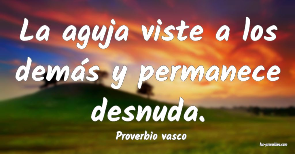 Proverbio vasco
