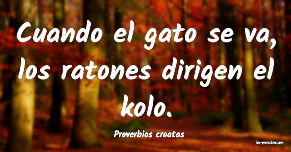 Proverbios croatas