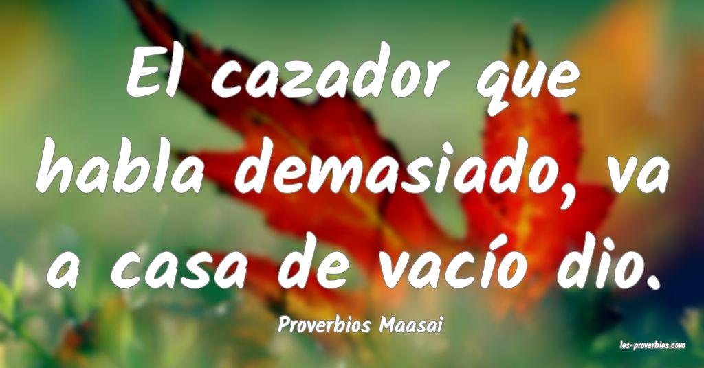 Proverbios Maasai
